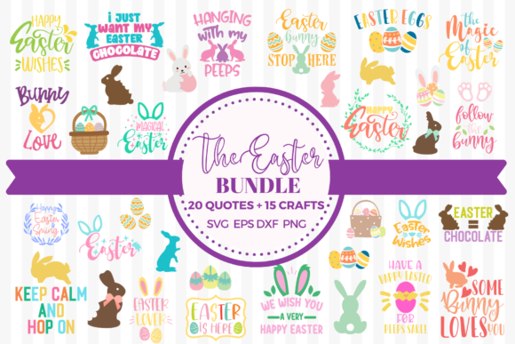 The Easter Bundle Gráfico Crafts Por Graphipedia