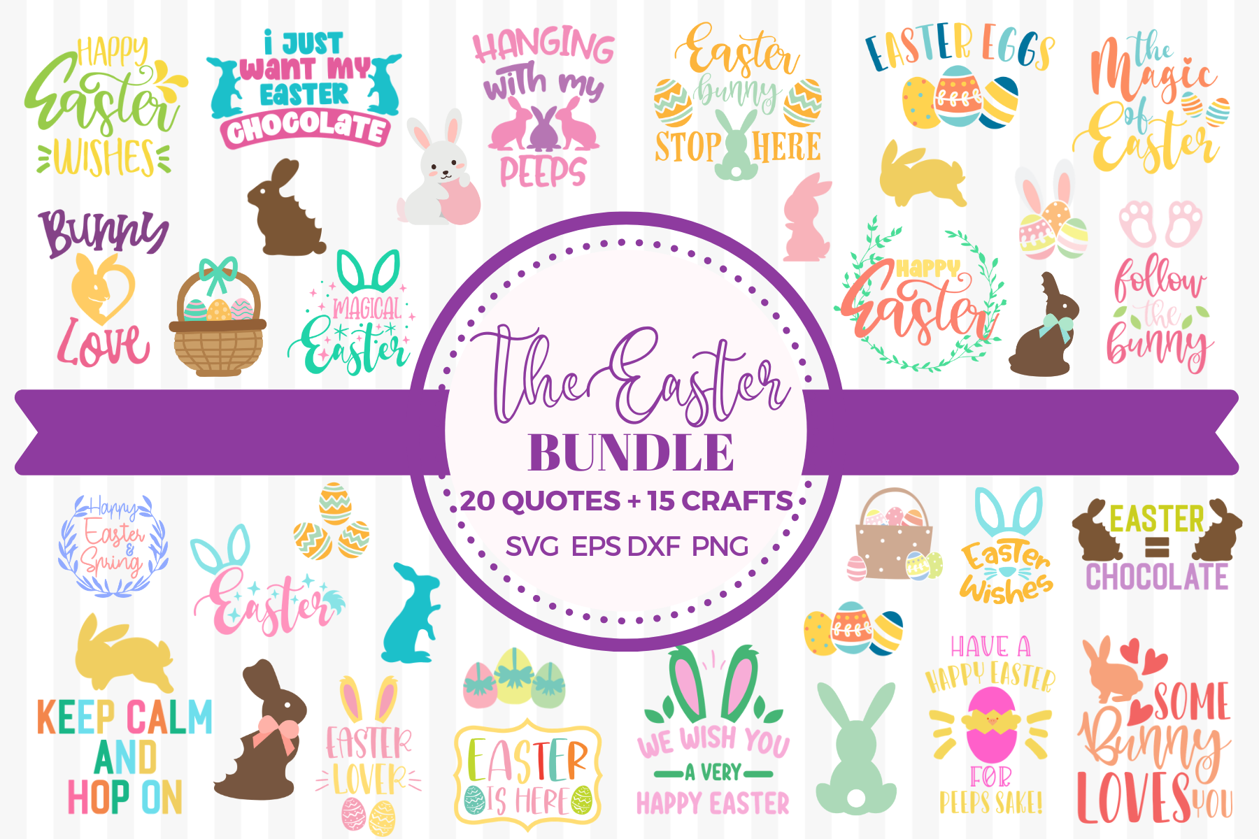 Download Free The Easter Bundle Graphic By Graphipedia Creative Fabrica for Cricut Explore, Silhouette and other cutting machines.