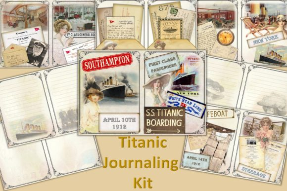 Print on Demand: Titanic Journaling Kit with Ephemera Graphic Crafts By The Paper Princess