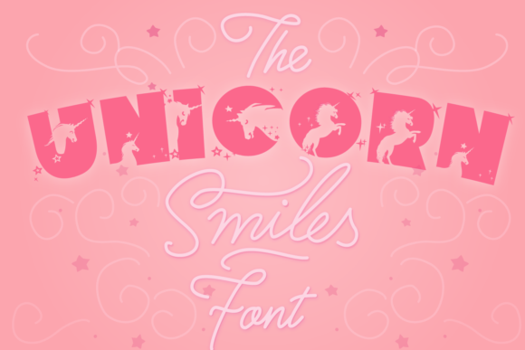 Print on Demand: Unicorn Smiles Display Font By Anastasia Feya