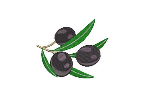 Black Olives Food & Dining Embroidery Design By Embroidery Designs