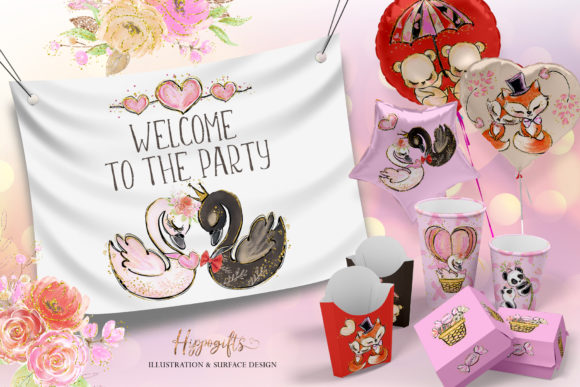 Love Clip Art (Wedding & Valentine's Day) Graphic Illustrations By Hippogifts - Image 10