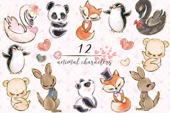 Love Clip Art (Wedding & Valentine's Day) Graphic Illustrations By Hippogifts - Image 2