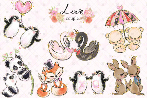 Love Clip Art (Wedding & Valentine's Day) Graphic Illustrations By Hippogifts - Image 3