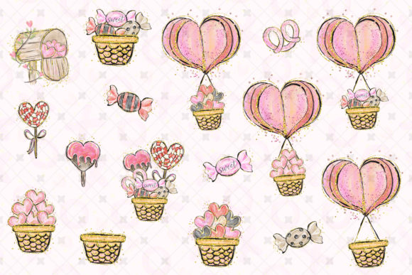 Love Clip Art (Wedding & Valentine's Day) Graphic Illustrations By Hippogifts - Image 4