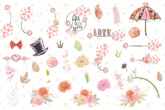 Love Clip Art (Wedding & Valentine's Day) Graphic Illustrations By Hippogifts - Image 7