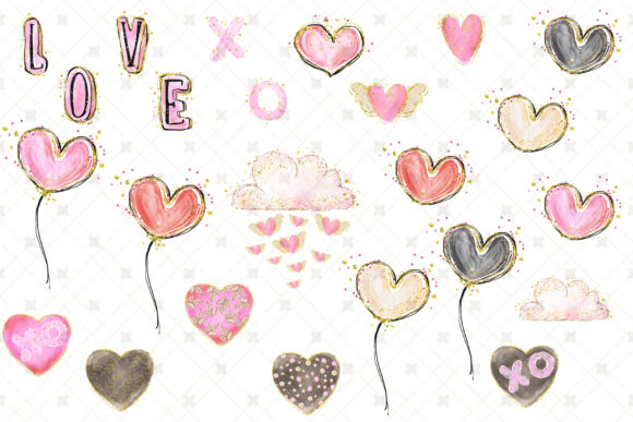 Love Clip Art (Wedding & Valentine's Day) Graphic Illustrations By Hippogifts - Image 9