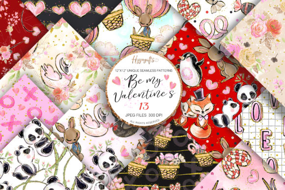 Valentine's Day Patterns Graphic Patterns By Hippogifts - Image 1