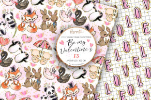 Valentine's Day Patterns Graphic Patterns By Hippogifts 2