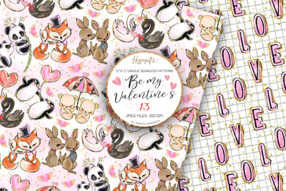 Download Free Valentine S Day Patterns Graphic By Hippogifts Creative Fabrica for Cricut Explore, Silhouette and other cutting machines.