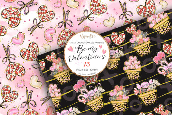 Valentine's Day Patterns Graphic Patterns By Hippogifts - Image 3