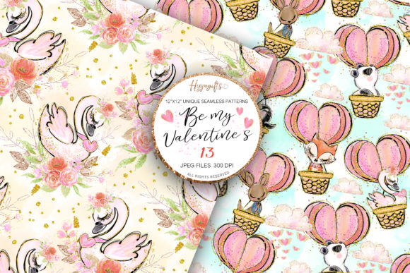 Valentine's Day Patterns Graphic Patterns By Hippogifts - Image 4