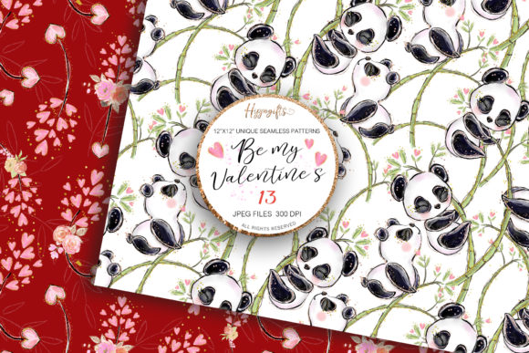 Valentine's Day Patterns Graphic Patterns By Hippogifts - Image 5