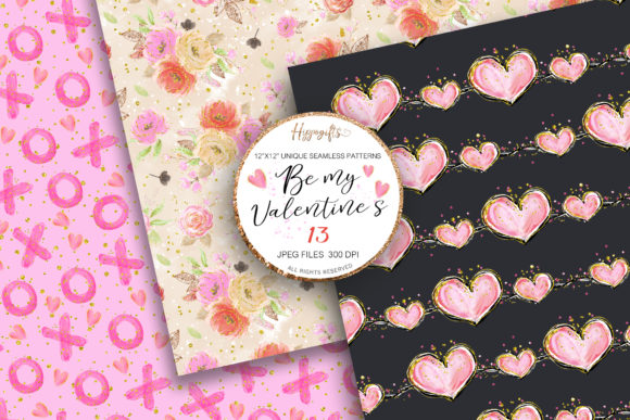 Valentine's Day Patterns Graphic Patterns By Hippogifts - Image 7