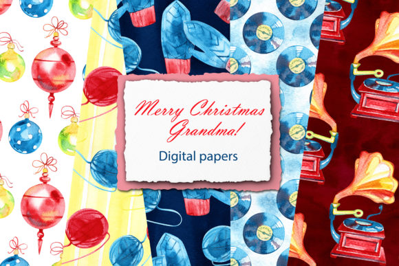 Watercolor Winter Digital Papers Graphic Illustrations By NataliMyaStore - Image 1