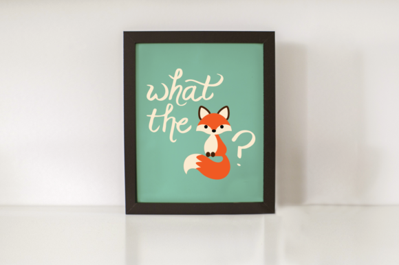 What the Fox Graphic Crafts By RisaRocksIt