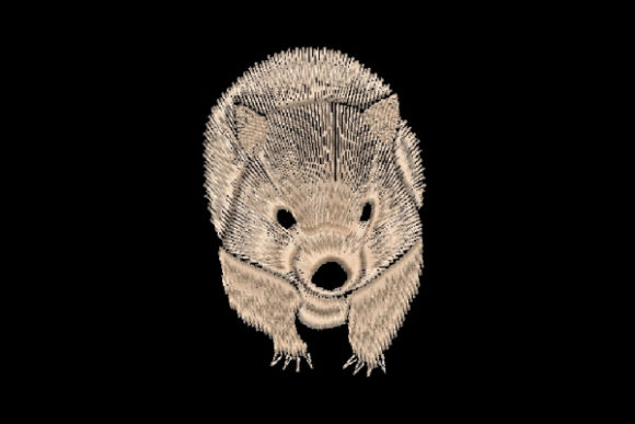 Wombat Woodland Animals Embroidery Design By Carol Undy - Image 1