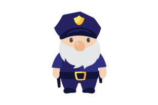 Police Gnome Fire & Police Craft Cut File By Creative Fabrica Crafts