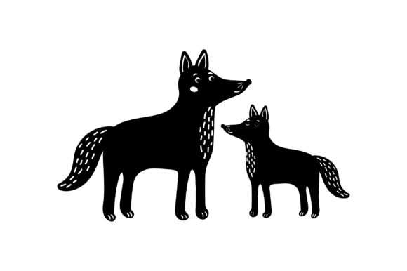 Mom and Baby Wolves Animals Craft Cut File By Creative Fabrica Crafts - Image 2