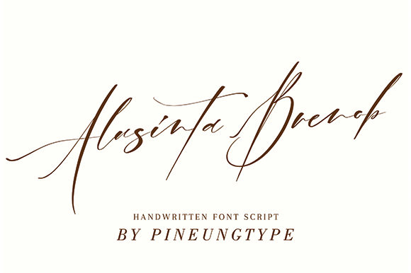 Print on Demand: Alusinta Brenob Script & Handwritten Font By missinklab