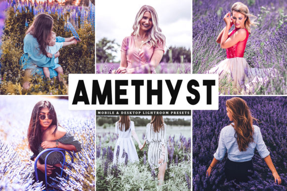 Print on Demand: Amethyst Lightroom Presets Pack Graphic Actions & Presets By Creative Tacos