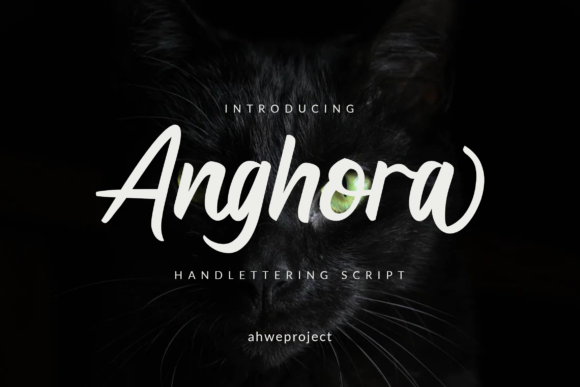 Print on Demand: Anghora Script & Handwritten Font By ahweproject - Image 1