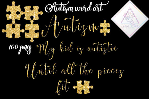 Print on Demand: Autism Word Art Graphic Illustrations By fantasycliparts
