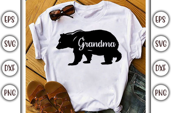 Download Free Bear Grandma Graphic By Graphicsbooth Creative Fabrica for Cricut Explore, Silhouette and other cutting machines.