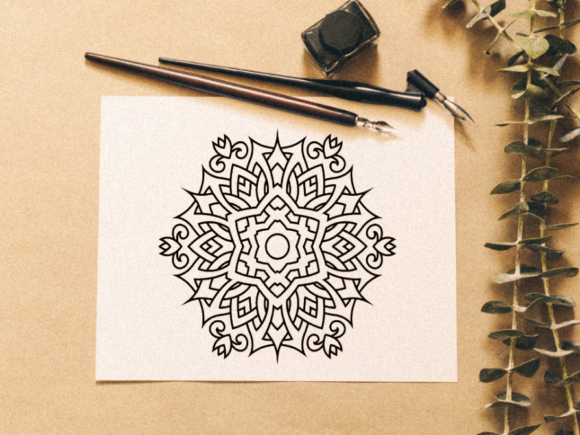 Download Free Beautiful Mandala Design 11 Graphic By Ermannofficial Creative for Cricut Explore, Silhouette and other cutting machines.