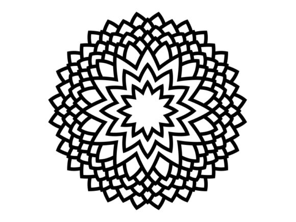 Download Free Beautiful Mandala Design 113 Graphic By Ermannofficial for Cricut Explore, Silhouette and other cutting machines.