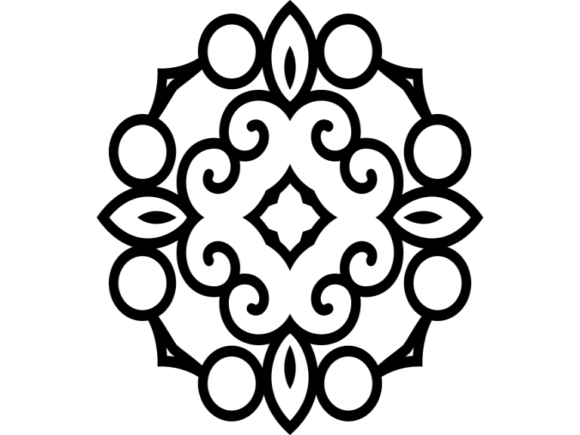 Download Free Beautiful Mandala Design 90 Graphic By Ermannofficial Creative for Cricut Explore, Silhouette and other cutting machines.
