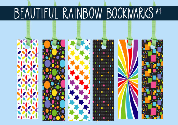 Print on Demand: Beautiful Rainbow Bookmarks  #1 Graphic Print Templates By capeairforce