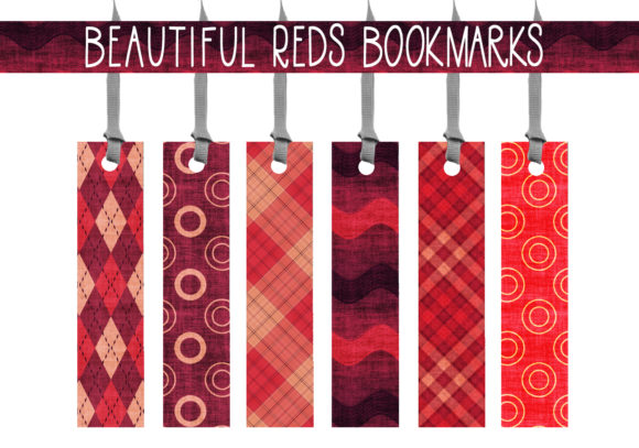 Print on Demand: Beautiful Reds Bookmarks Graphic Print Templates By capeairforce