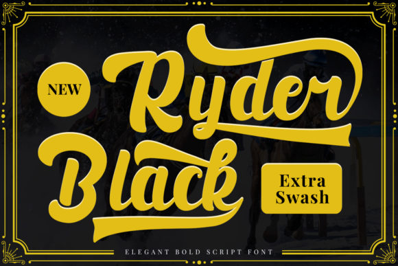 Print on Demand: Black Ryder Script & Handwritten Font By Naharstd