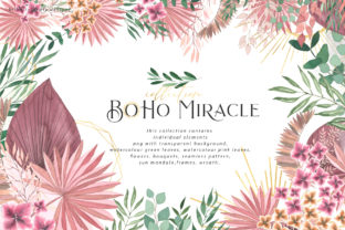Boho Miracle Collection Graphic Illustrations By BilberryCreate