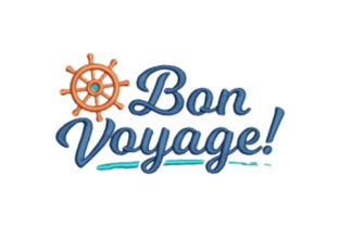 Bon Voyage Travel Quotes Embroidery Design By designsbymira