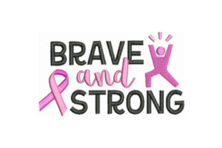 Brave and Strong Awareness Embroidery Design By designsbymira