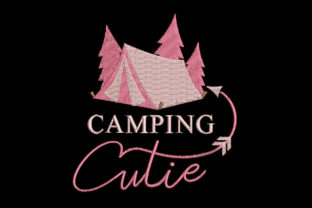 Print on Demand: Camping Cutie Camping & Fishing Embroidery Design By Embroidery Shelter