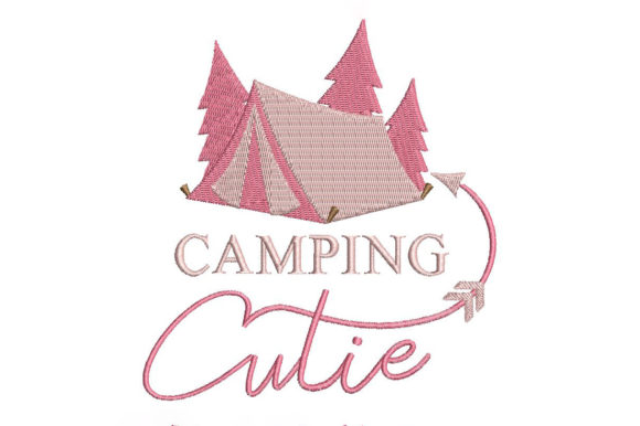 Camping Cutie Camping & Fishing Embroidery Design By Embroidery Shelter - Image 2