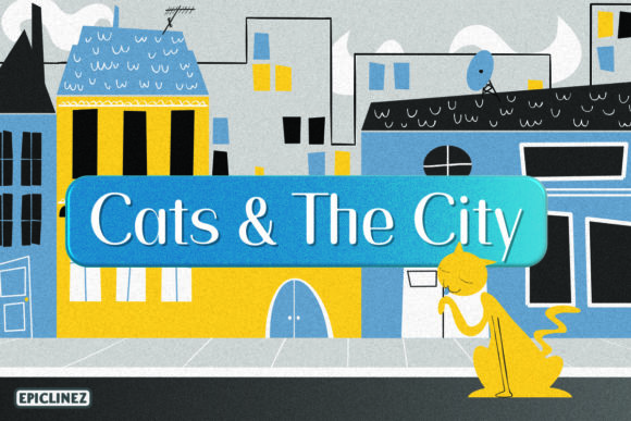 Print on Demand: Cats and the CIty Sans Serif Font By Epiclinez