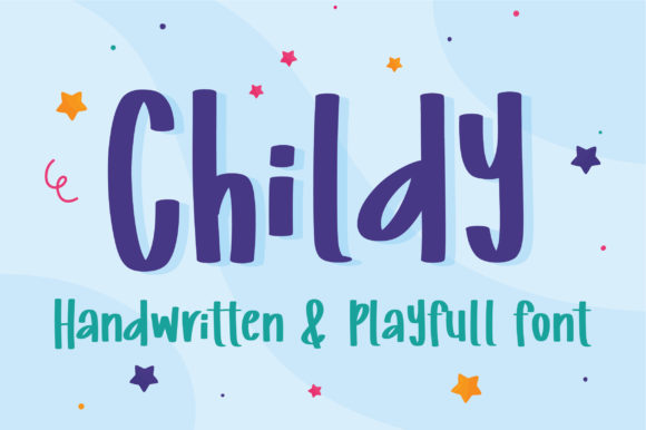 Print on Demand: Childy Script & Handwritten Font By bitongphoto - Image 1