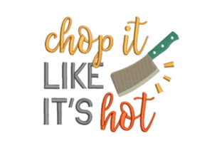 Chop It Kitchen & Cooking Embroidery Design By designsbymira