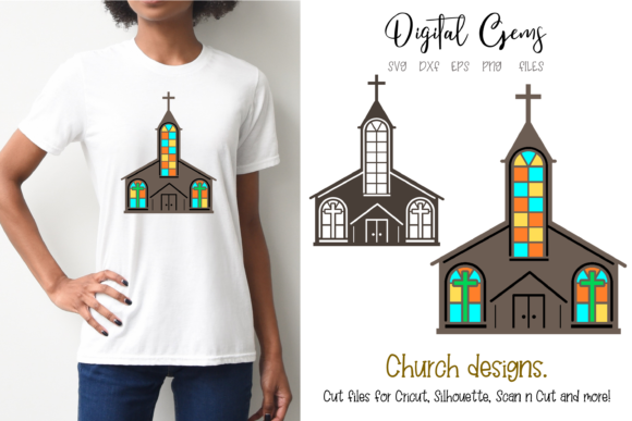 Church Designs Graphic Crafts By Digital Gems