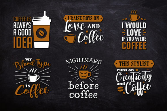 Coffee Quote & T-shirt Design Graphic Illustrations By Creative Fabrica Freebies