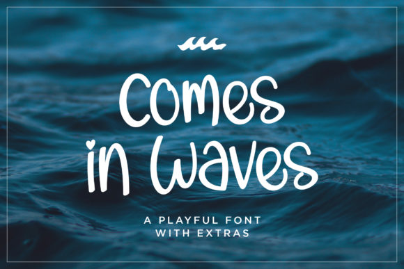 Print on Demand: Comes in Waves Script & Handwritten Font By Rifki (7ntypes)