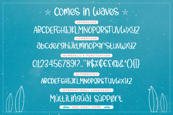 Print on Demand: Comes in Waves Script & Handwritten Font By Rifki (7ntypes) - Image 5