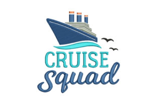 Cruise Squad Beach & Nautical Embroidery Design By designsbymira