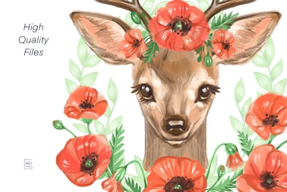 Cute Deer Cliparts Graphic Illustrations By NataliMyaStore - Image 3