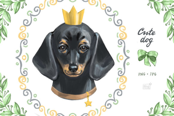 Cute Dog Dachshund Clipart Graphic Illustrations By NataliMyaStore