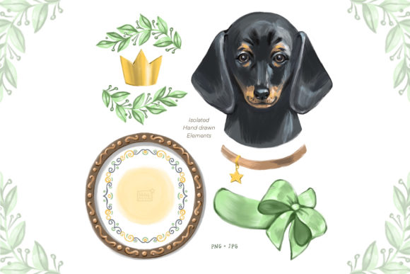 Download Free Cute Dog Dachshund Clipart Graphic By Natalimyastore Creative for Cricut Explore, Silhouette and other cutting machines.